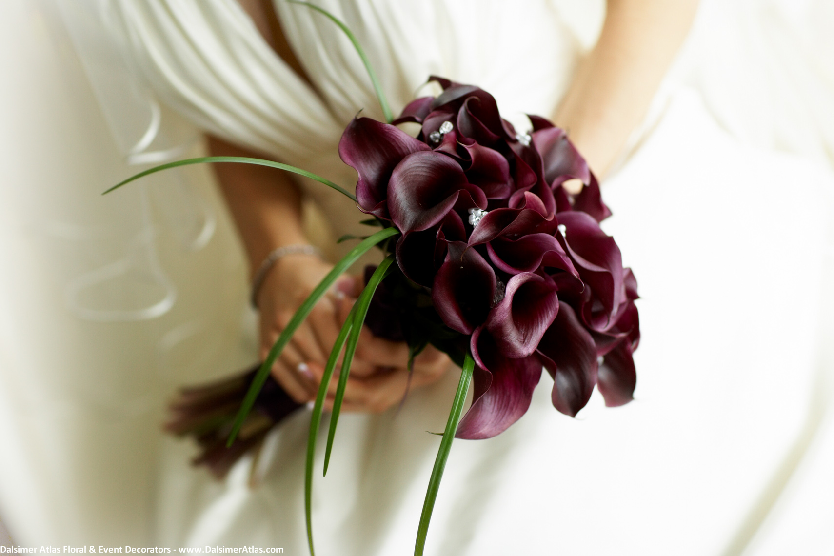 Bridal Bouquet Purple Calla Lilies