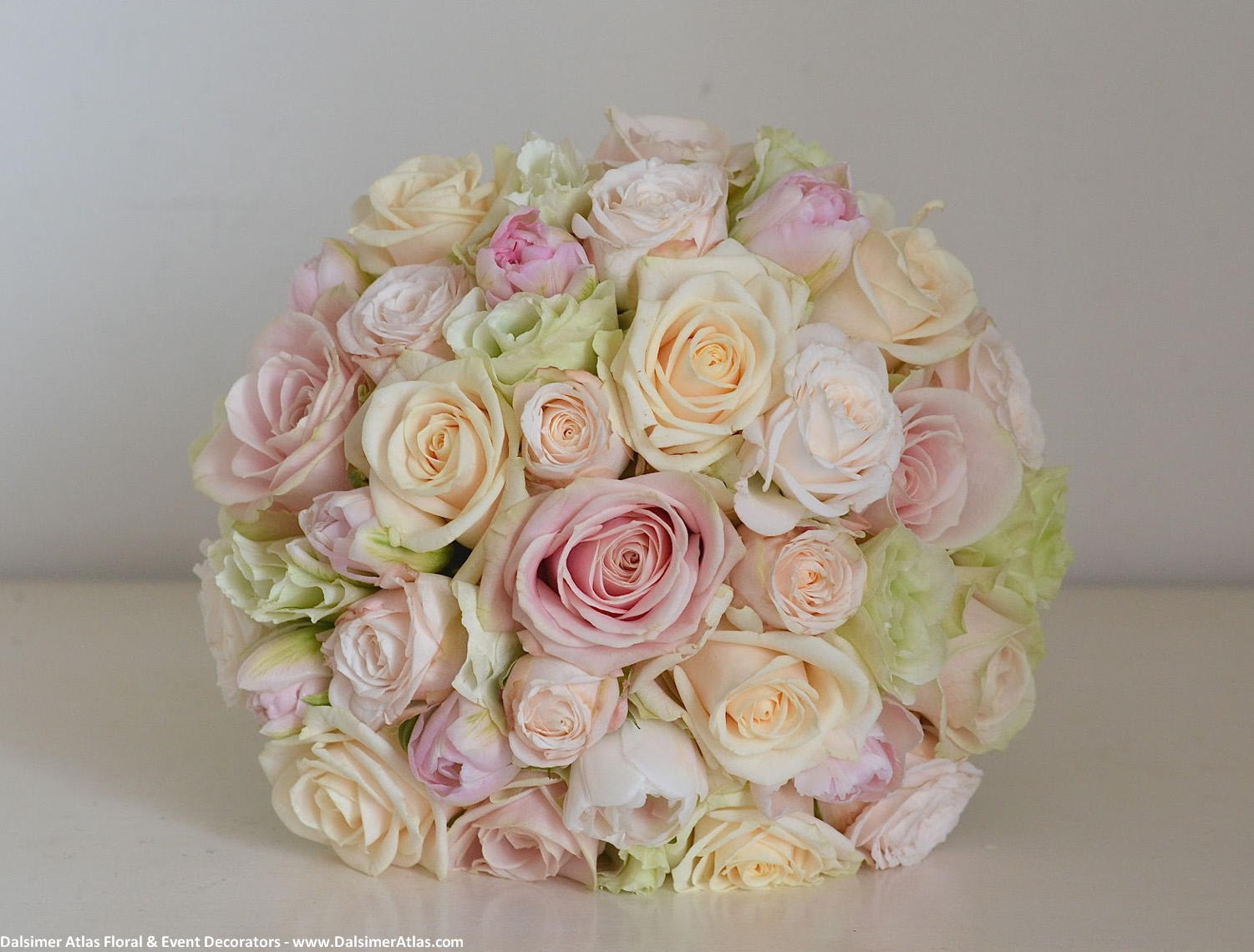 Bridal Bouquet Light Pink Ivory Roses