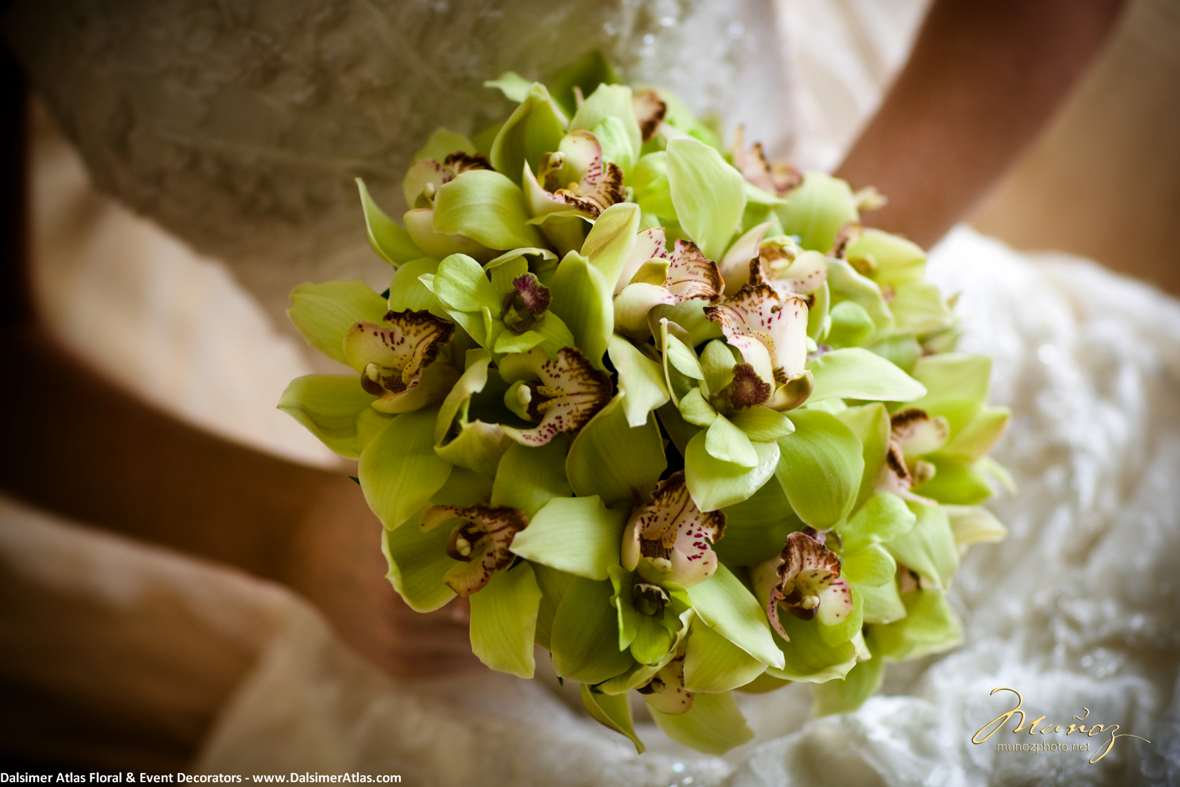 Bridal Bouquets Green Orchids
