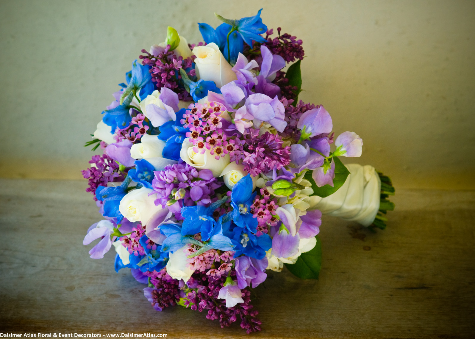Bridal Bouquet Blue Purple Cream