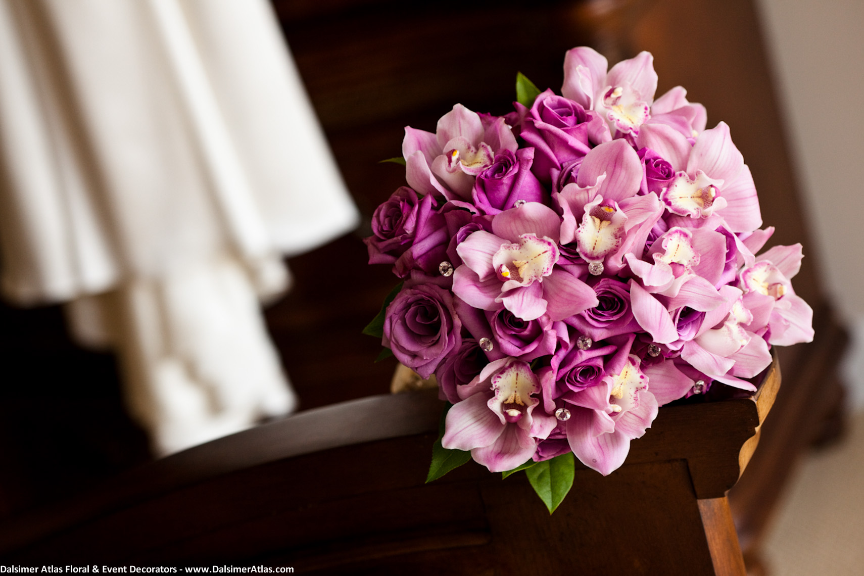 Bridal Bouquet Purple Orchids Purple Roses