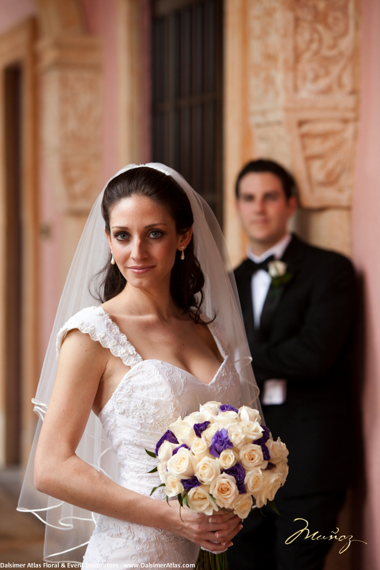 Bridal Bouquet White Purple