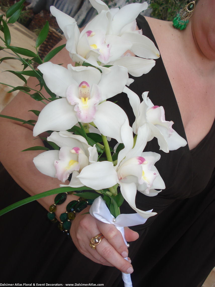 Bridesmaid Bouquet White Orchids