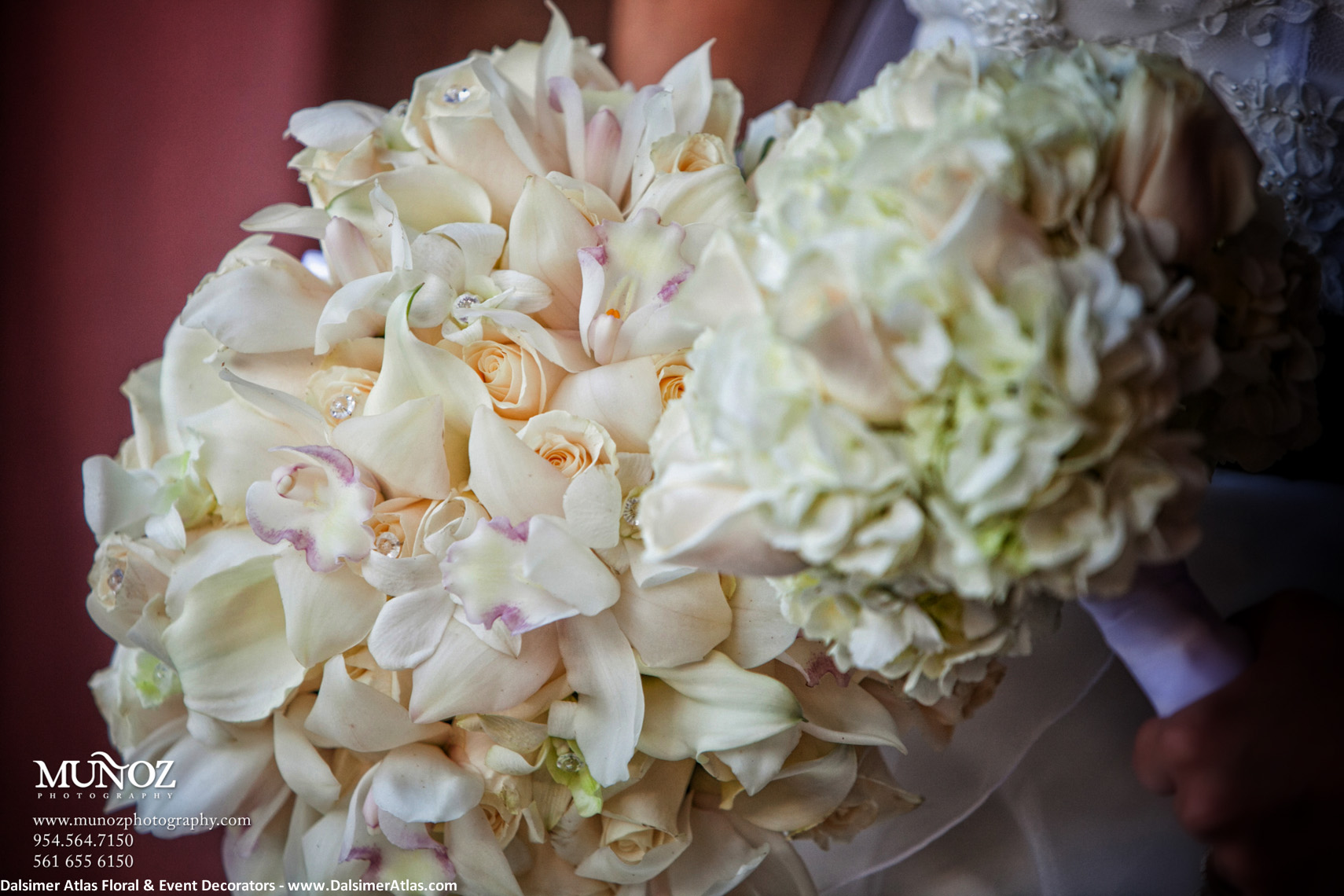 Bridal Bouquets Cream Orchids Roses