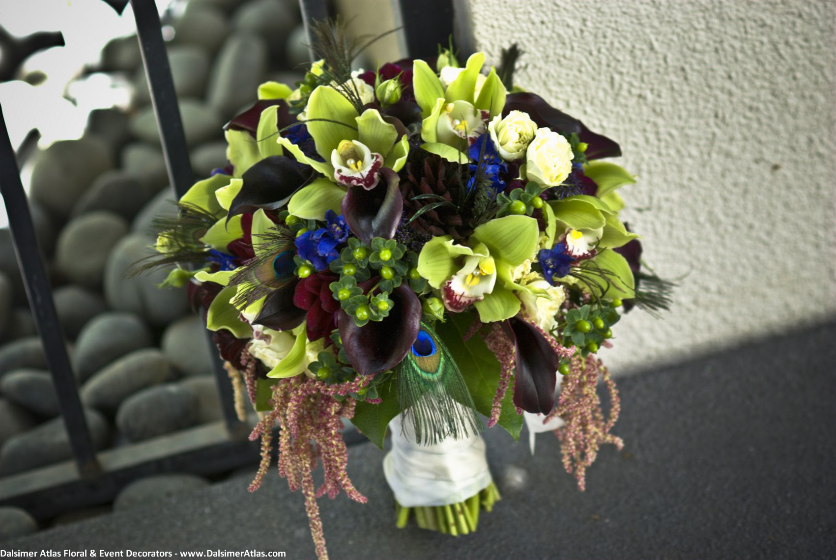 Bridal Bouquet Green Orchids
