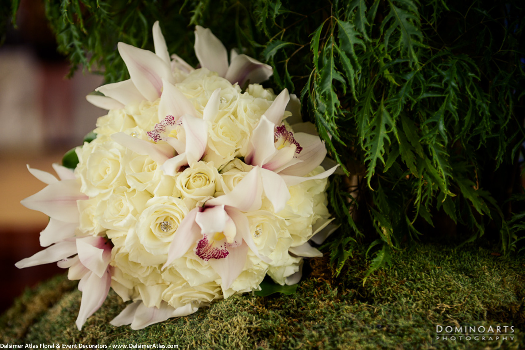 Bridal Bouquet Ivory Roses White Orchids