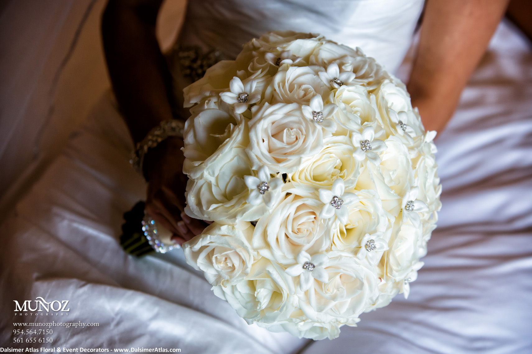 Bridal Bouquet Solid White Roses
