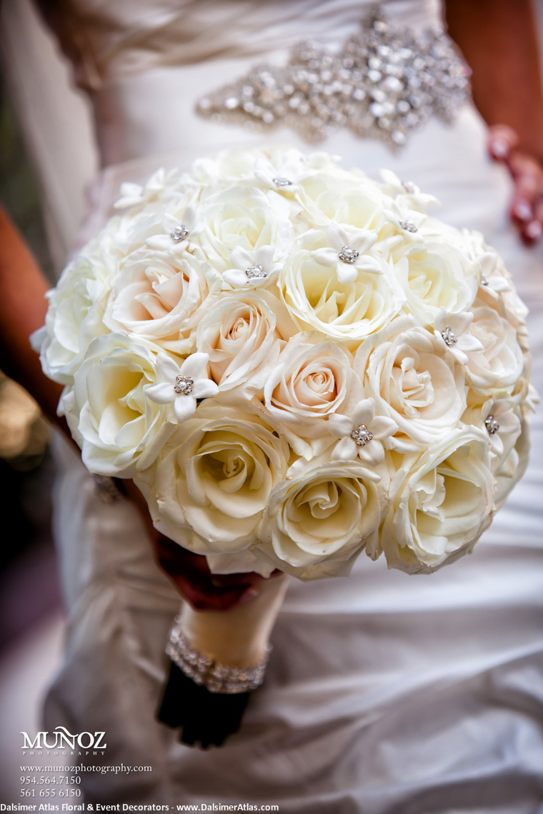 Bridal Bouquet White Stephanotis Roses