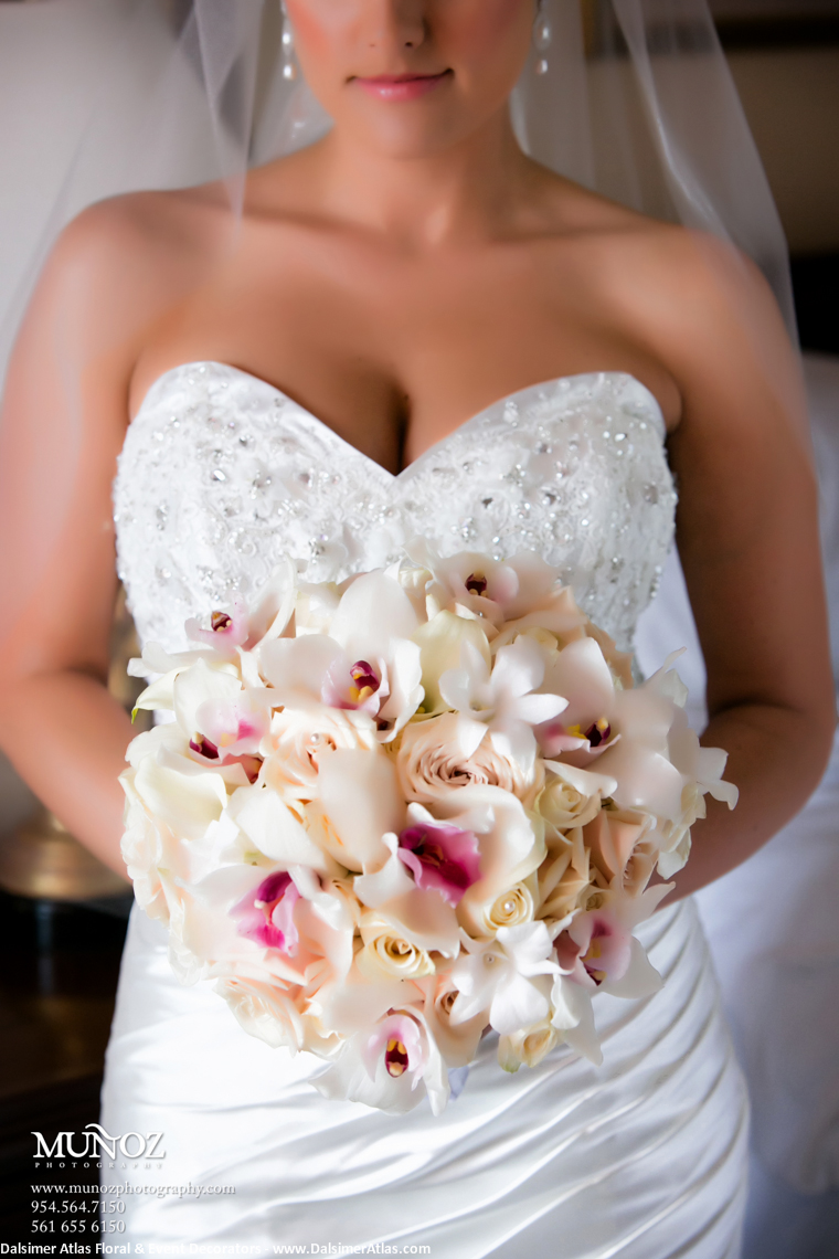 Bridal Bouquet Orchids Roses Ivory